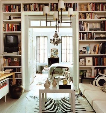 Our Tribute To Beautiful Small Living Spaces Part I Keep Domino Alive Bookshelves Built In Home Decorating Small Spaces