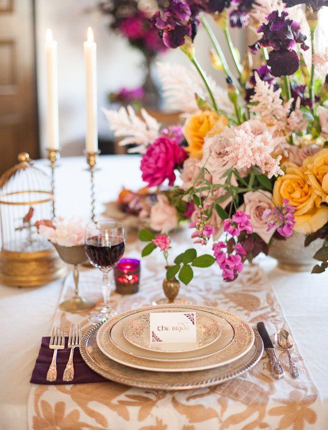 Romantic wedding table setting ideas | Wedding table settings ...