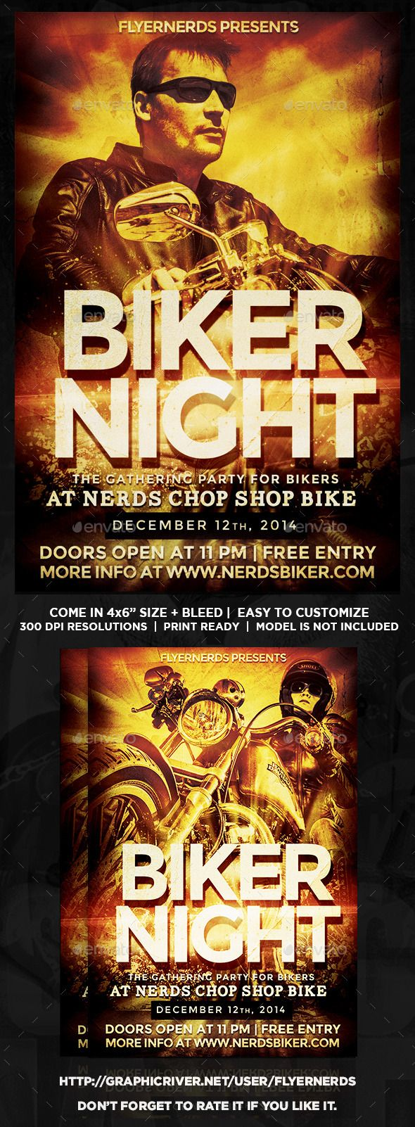 biker night gathering party flyer night flyers and flyer template biker night gathering party flyer template psd buy and