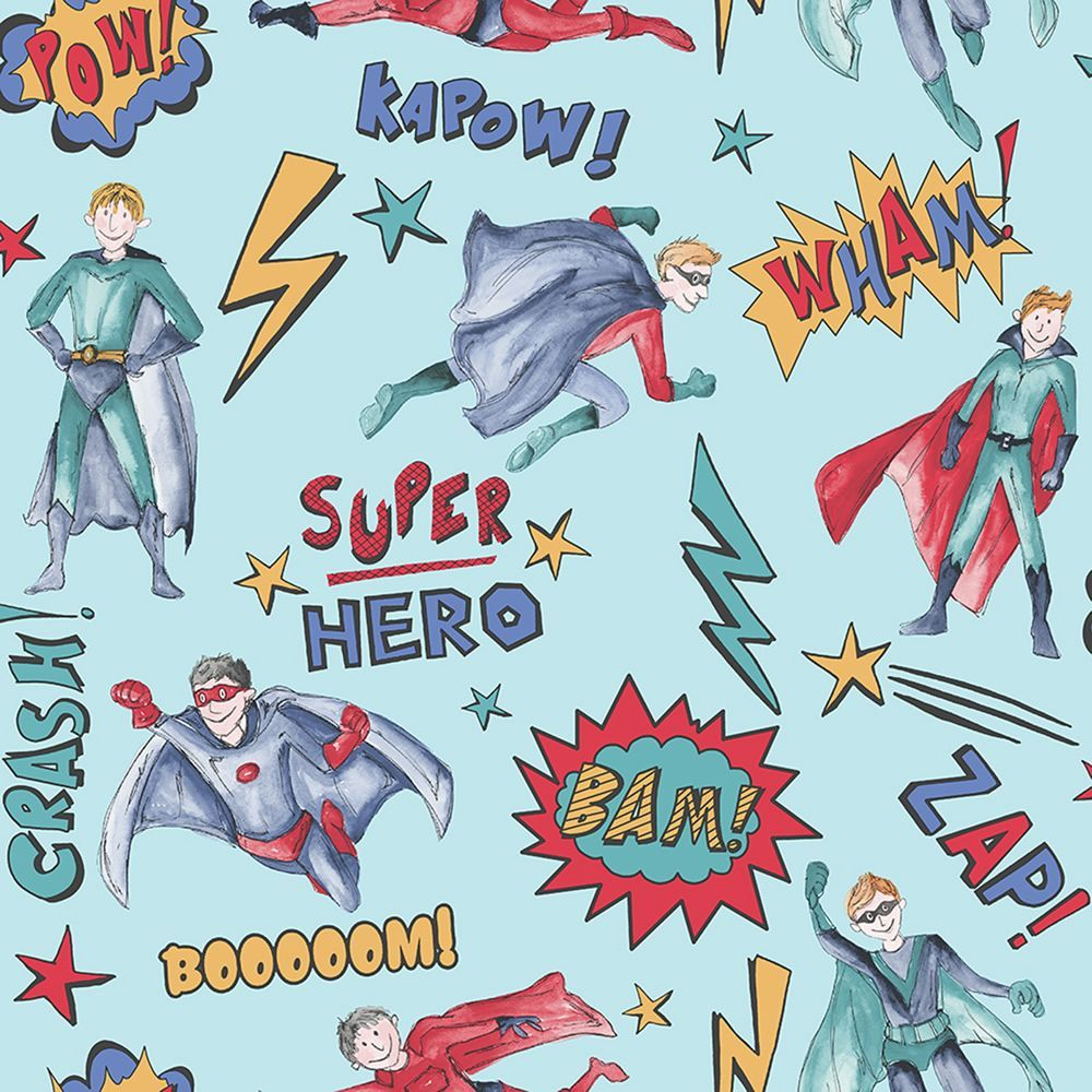Superhero Wallpaper Blue Arthouse 696200 Superhero