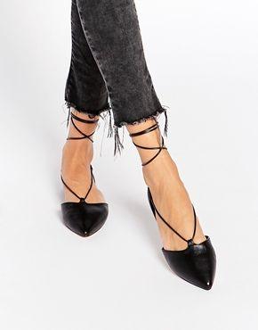 0aeac39261 Zapatos planos negros con lazo Ghillie Colyn de ALDO | Complementos ...