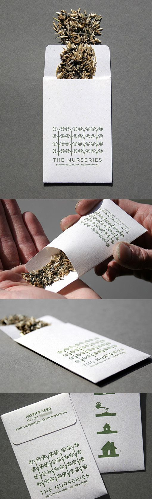 Clever Letterpress Printed Seed Packet Business Card Concept Uniquebusinesscards