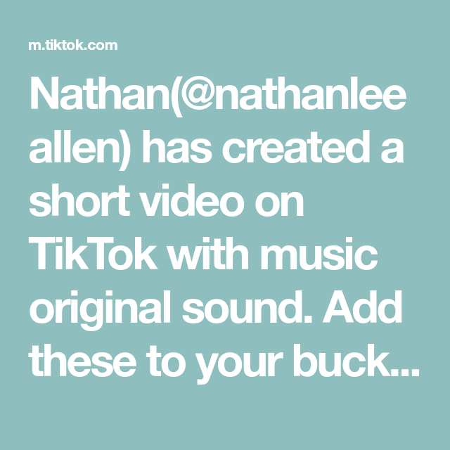 Nathan Nathanleeallen Has Created A Short Video On Tiktok With Music Original Sound Add These To Your Bucket List Asa Eyelashes Tutorial The Originals Music