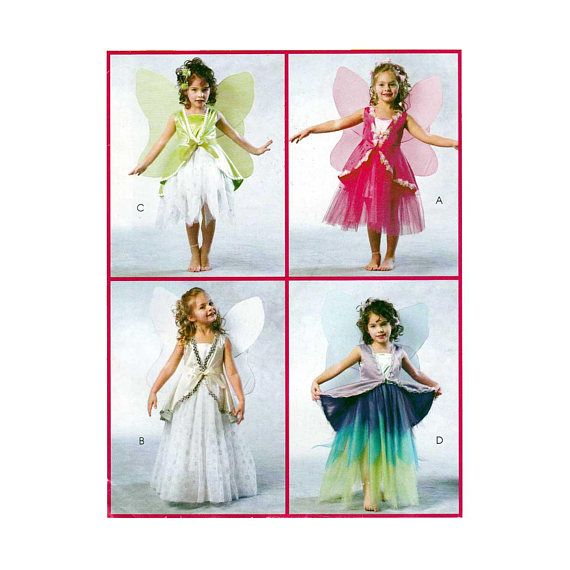 Girl\'s Fairy and Angel Costume Sewing Pattern Child Size | Costume ...