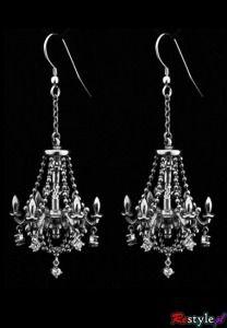 Barbie doll silver  dangling chandelier earrings