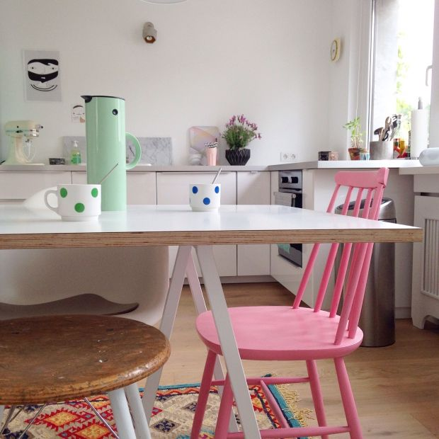 60er Jahre Wohnung in Düsseldorf Interiors and Room - küche aus holz