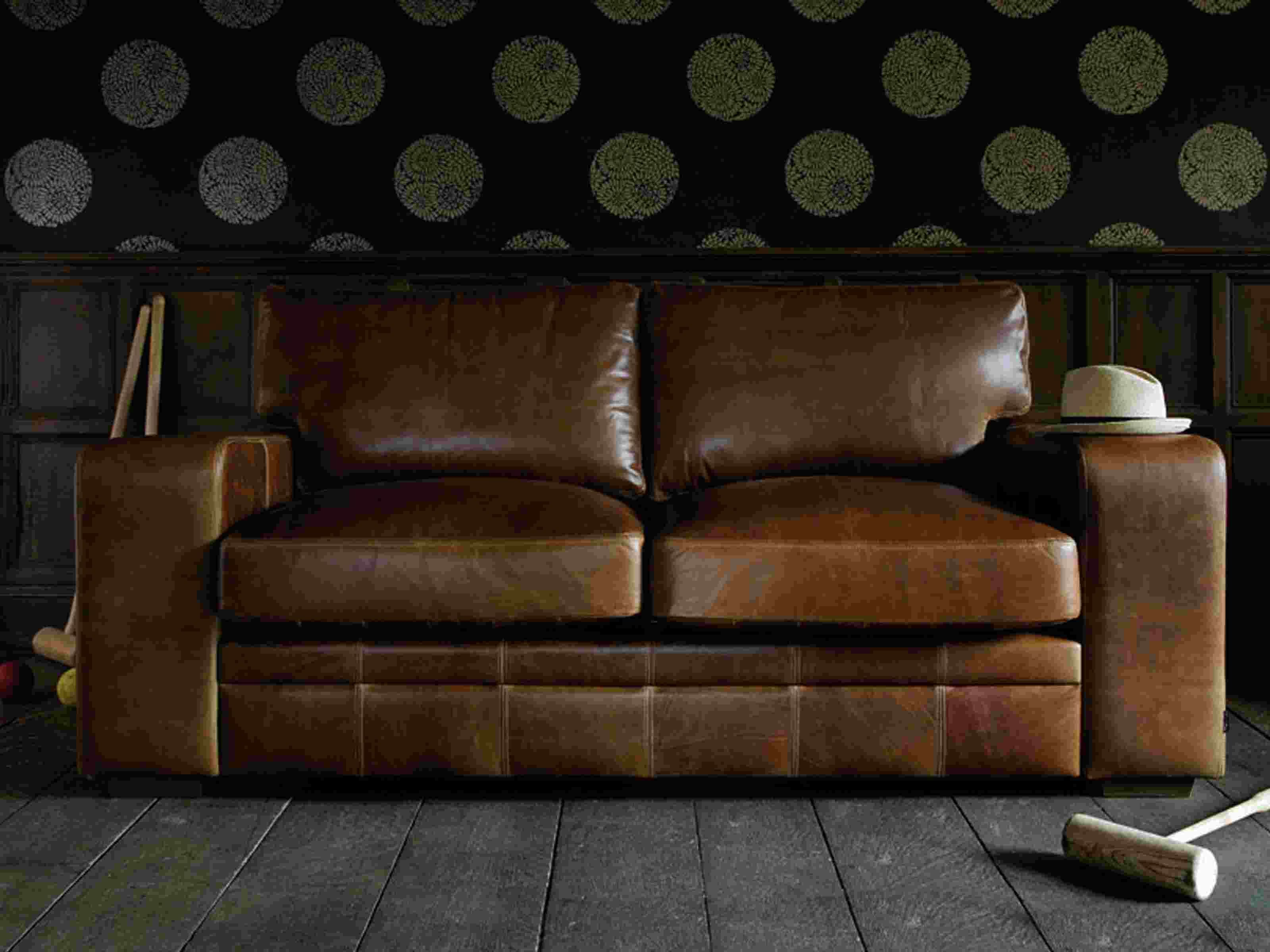 Whitechapel 3 seat Vintage Leather Sofa from Old Boot Sofas £1590
