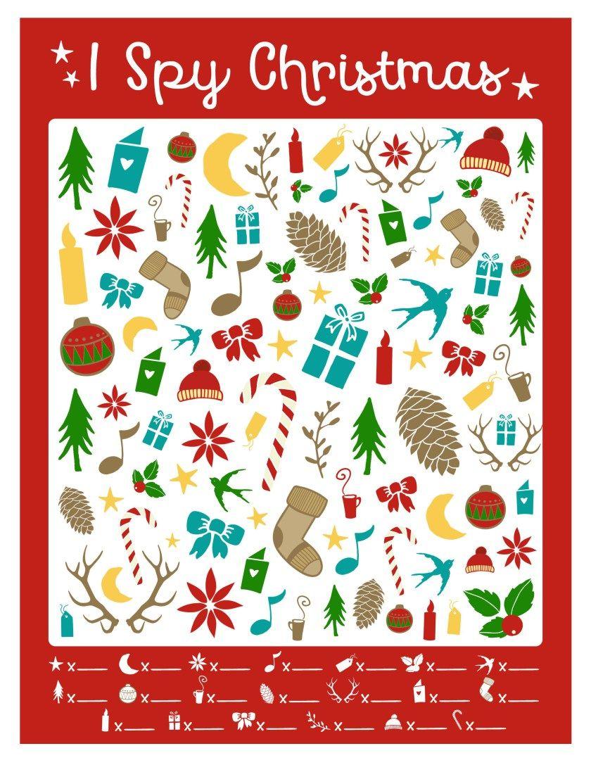 Free I Spy Christmas Printable Game Christmas Sunday School Christmas School Christmas Activities For Kids