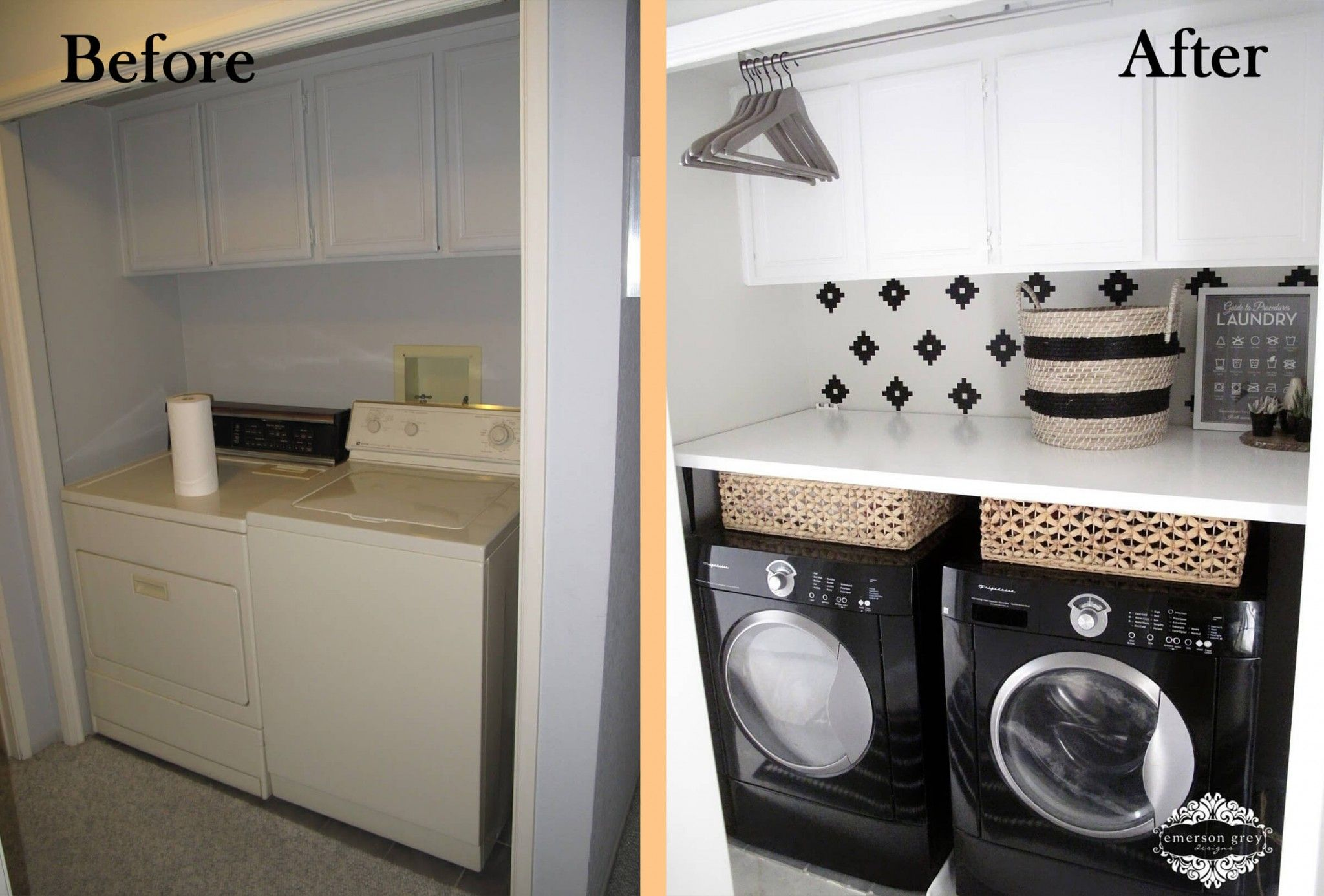 23 Before And After Budget Friendly Laundry Room Makeover Ideas That Will Amaze You Laundry Room Makeover Laundry Room Decor Diy Small Laundry Room Makeover