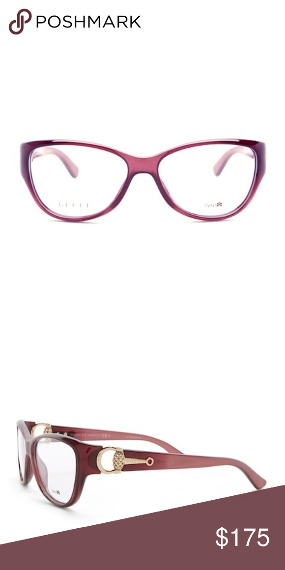 46c675b5f9c2 Gucci Optical Frames Authentic Gucci Cat Eye Optical Frames. Burgundy  Color. Case Included Gucci Accessories Sunglasses