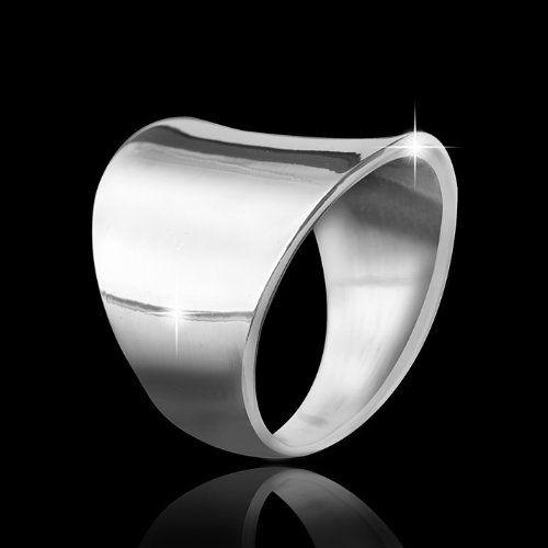 MATERIA Schmuck Damen Ring breit 925 Silber Ring ideal für