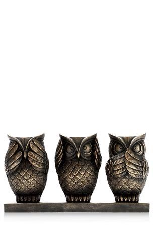 See No Evil Hear No Evil Speak No Evil See No Evil Hear No Evil Speak No Evil With Images Three Wise Monkeys Scented Candle Holders Owl