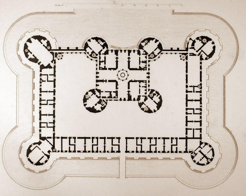First Floor Plan Of Chateau De Chambord Chateau De