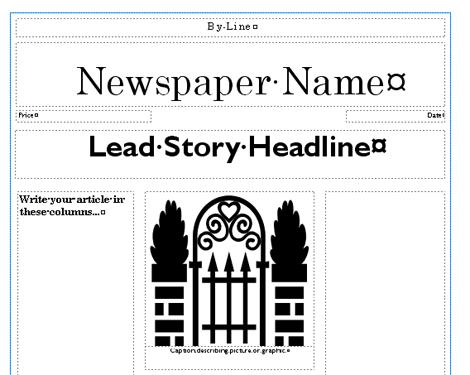 Newspaper Template School Pinterest Writing Ideas And School