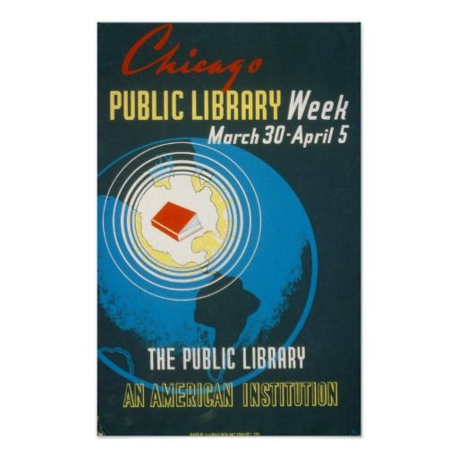 The Public Library Vintage Poster