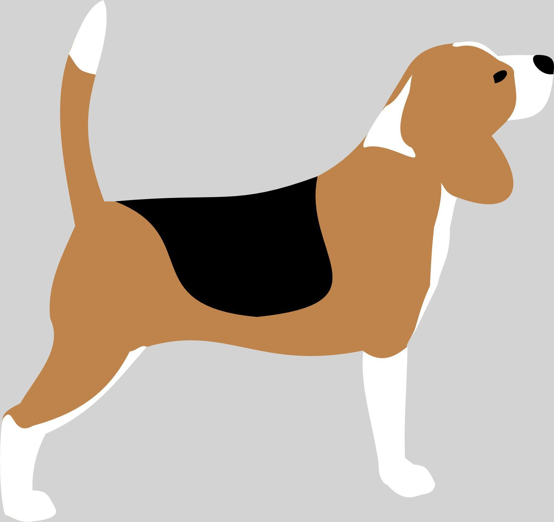 Beagle silhouette vector drawing DOGART