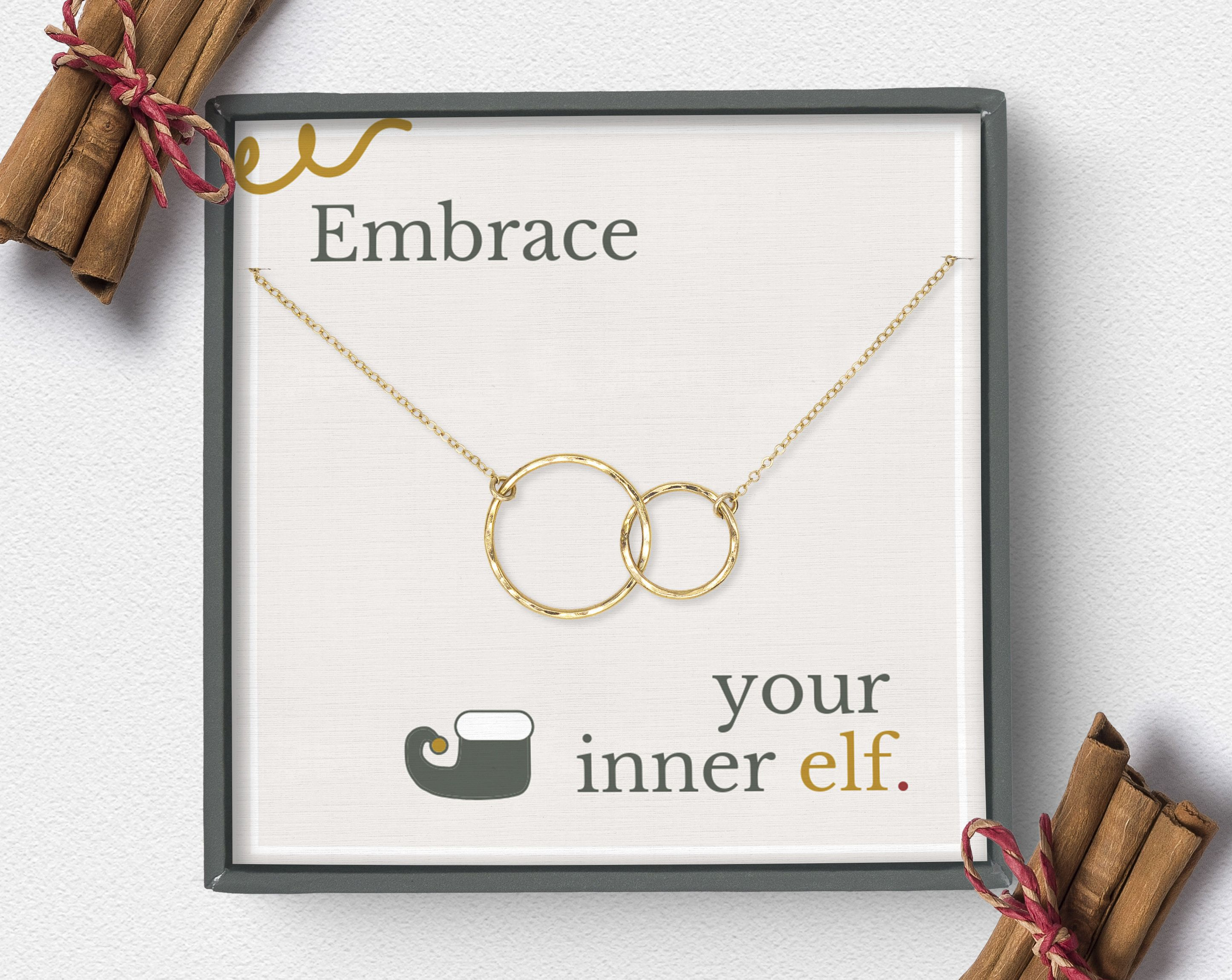 Christmas Gift Jewelry Necklace For Friends Funny Christmas Gift Dainty Simple Circle Neck Christmas Gift Jewelry Christmas Gifts For Girls Christmas Jewelry