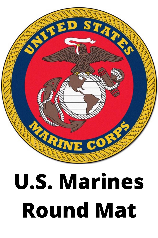 U.S. Marines Round Mat in 2020 Marines, Military