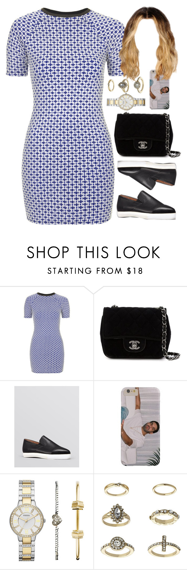 """17 May, 2016"" by jamilah-rochon ❤ liked on Polyvore featuring Topshop, Chanel, Jeffrey Campbell and FOSSIL"