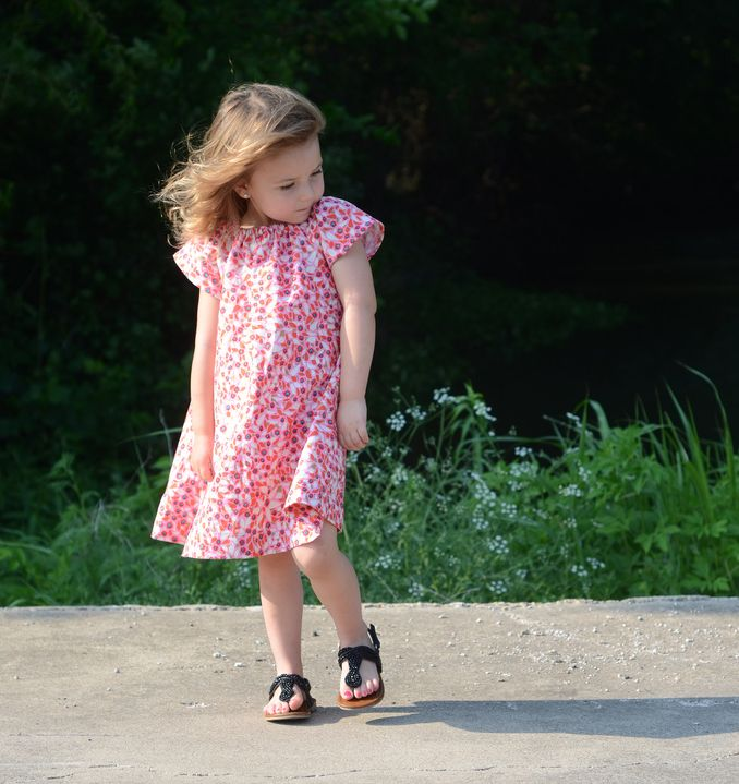 Free Girls Dress Pattern - summer dress Pretty Prudent | sewing ...