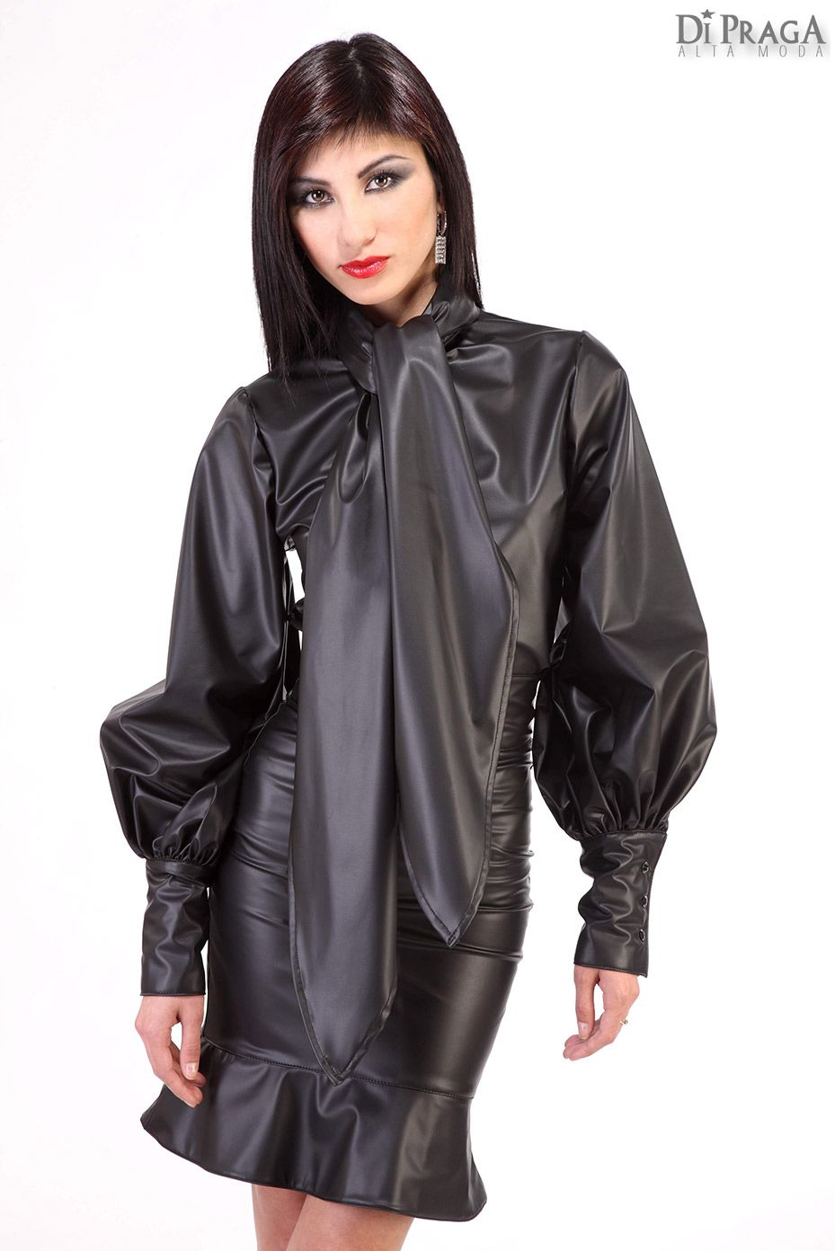 LL8 Leather Bow Blouse, Leather Skirt | LETHAL LEATHER ...