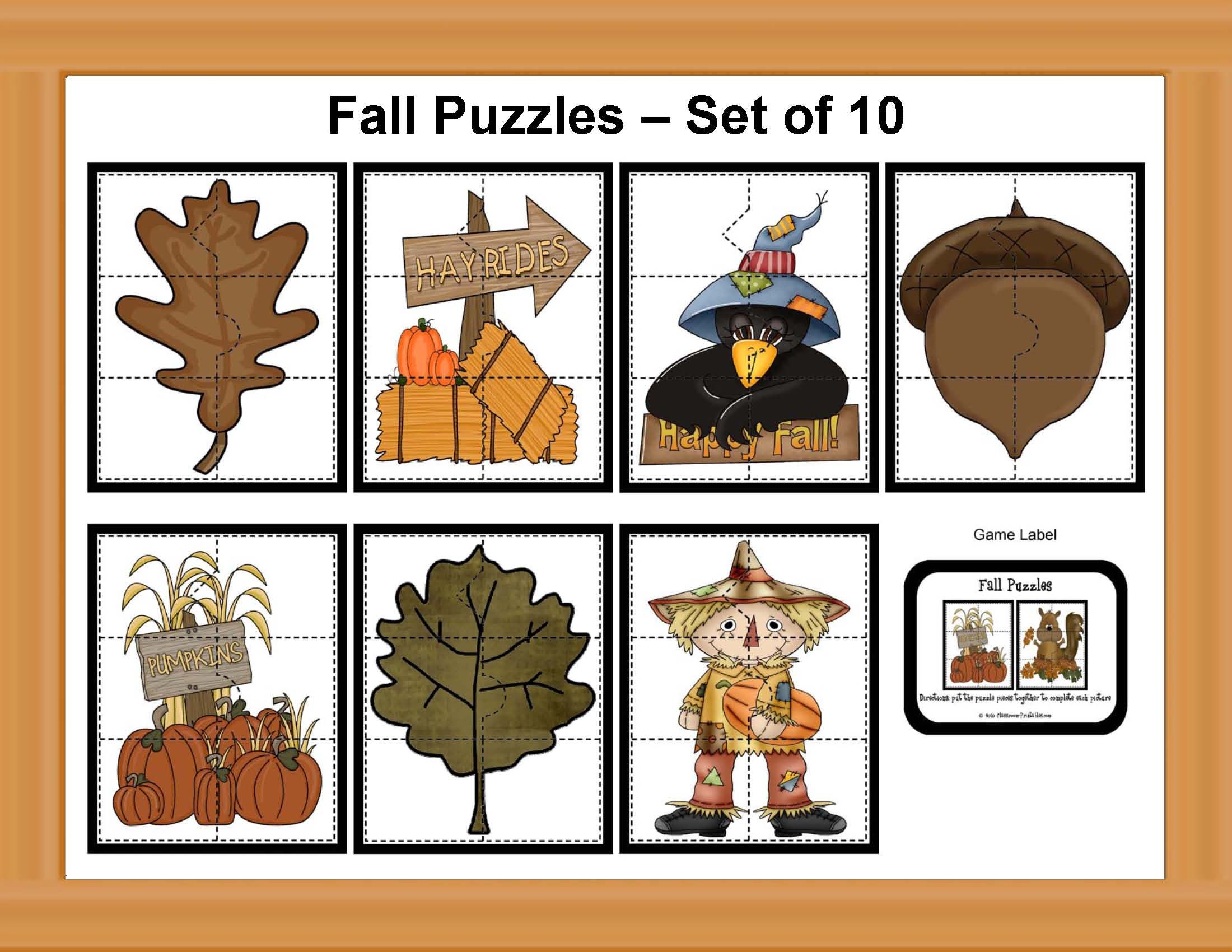 Fall Puzzle Set