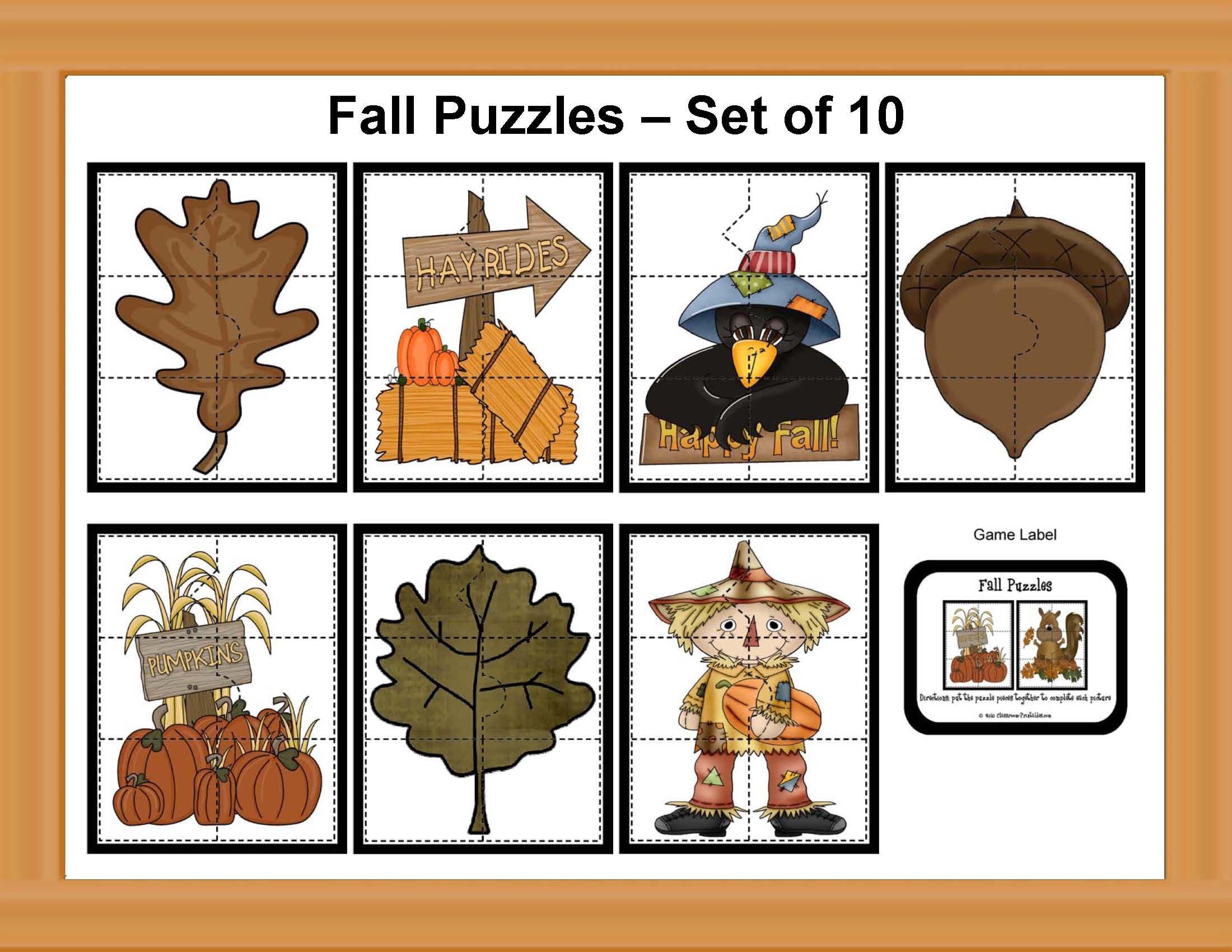 Fall Puzzle Set