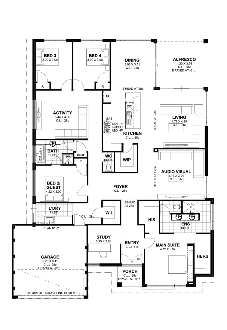 The Riverlea Home Design Floor Plans Floor Plans 5 Bedroom House Plans