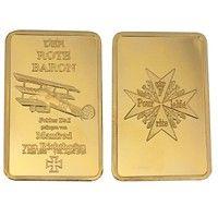Wish 24k One Ounce Fine Gold Manfred Albrecht Freiherr Von Richthofen Gold Bullion Clad Bar Replica Collection Coi With Images Gold Bullion Bars Gold Money Silver Coins