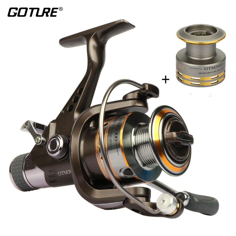 Dual Brake Spinning Reel Freshwater GTM3000 Carp Fishing Reel Aluminum Spool
