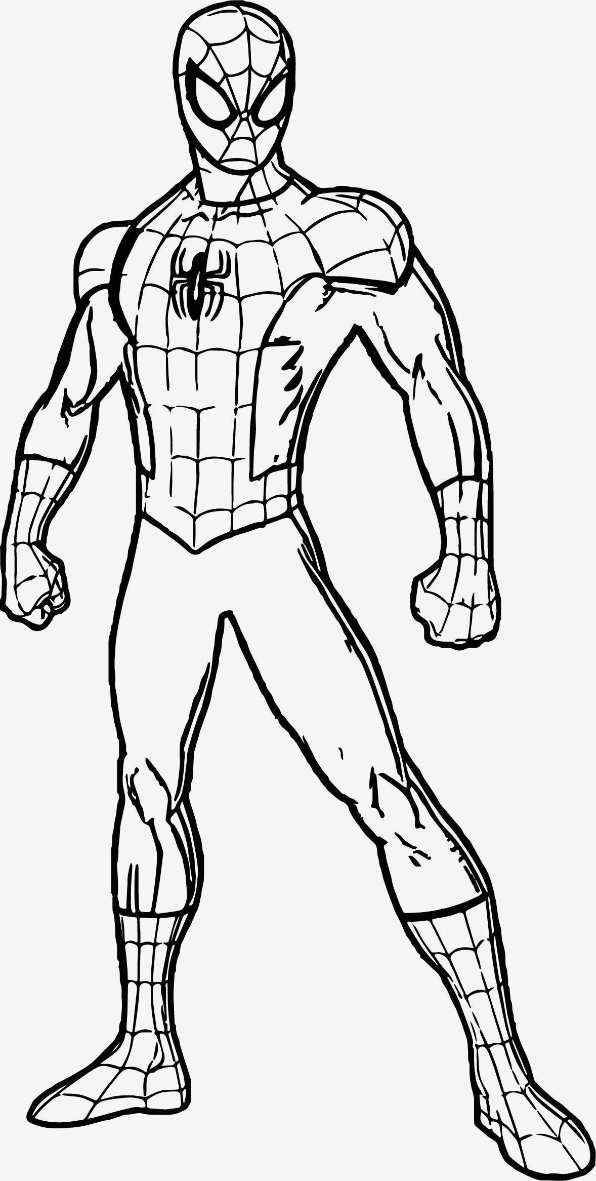 Marvelous Image Of Free Spiderman Coloring Pages Superhero