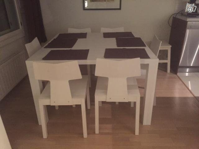 Ruokapöytä 120 x 120 cm