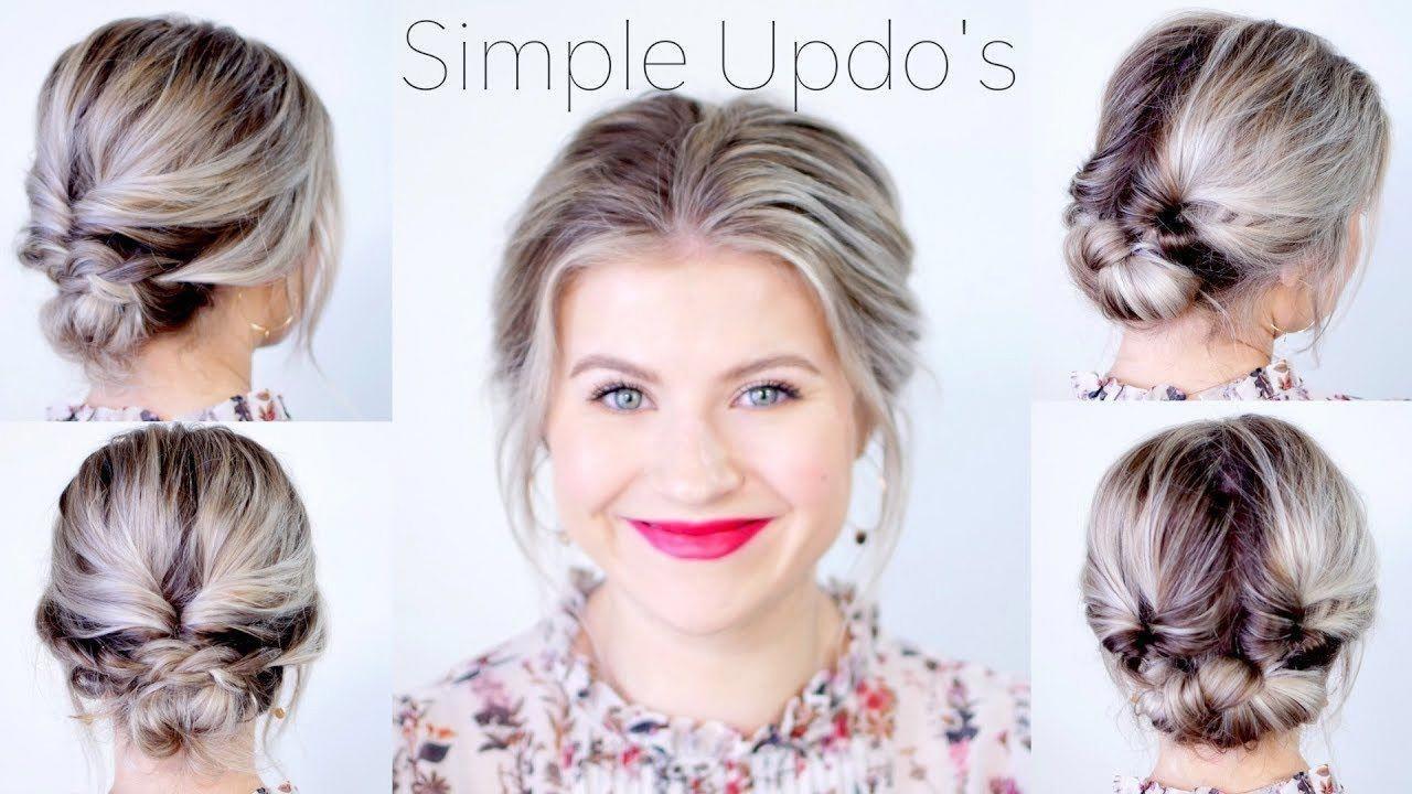 Simple Elegant Updo Hairstyles For Medium Length Hair Milabu Sideupdos Medium Length Hair Styles Medium Hair Styles Medium Long Hair
