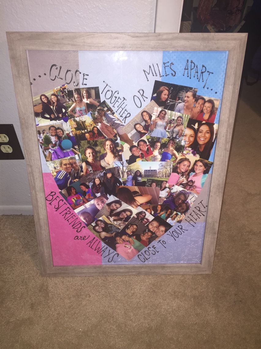 Heart shaped best friend collage | Cass\u0027s Arts and Crafts ...