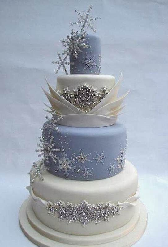 Beautiful Winter Themed Quinceanera Cakes Perfect for the