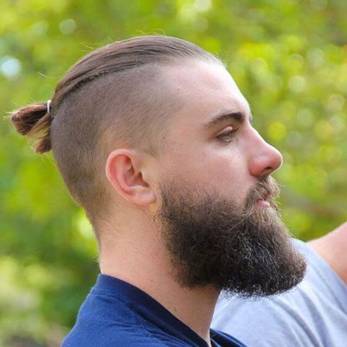 Men S Top Knot Hairstyles Men S Hairstyles And Haircuts 2016 Man Bun Hairstyles Undercut Hairstyles Beard Styles