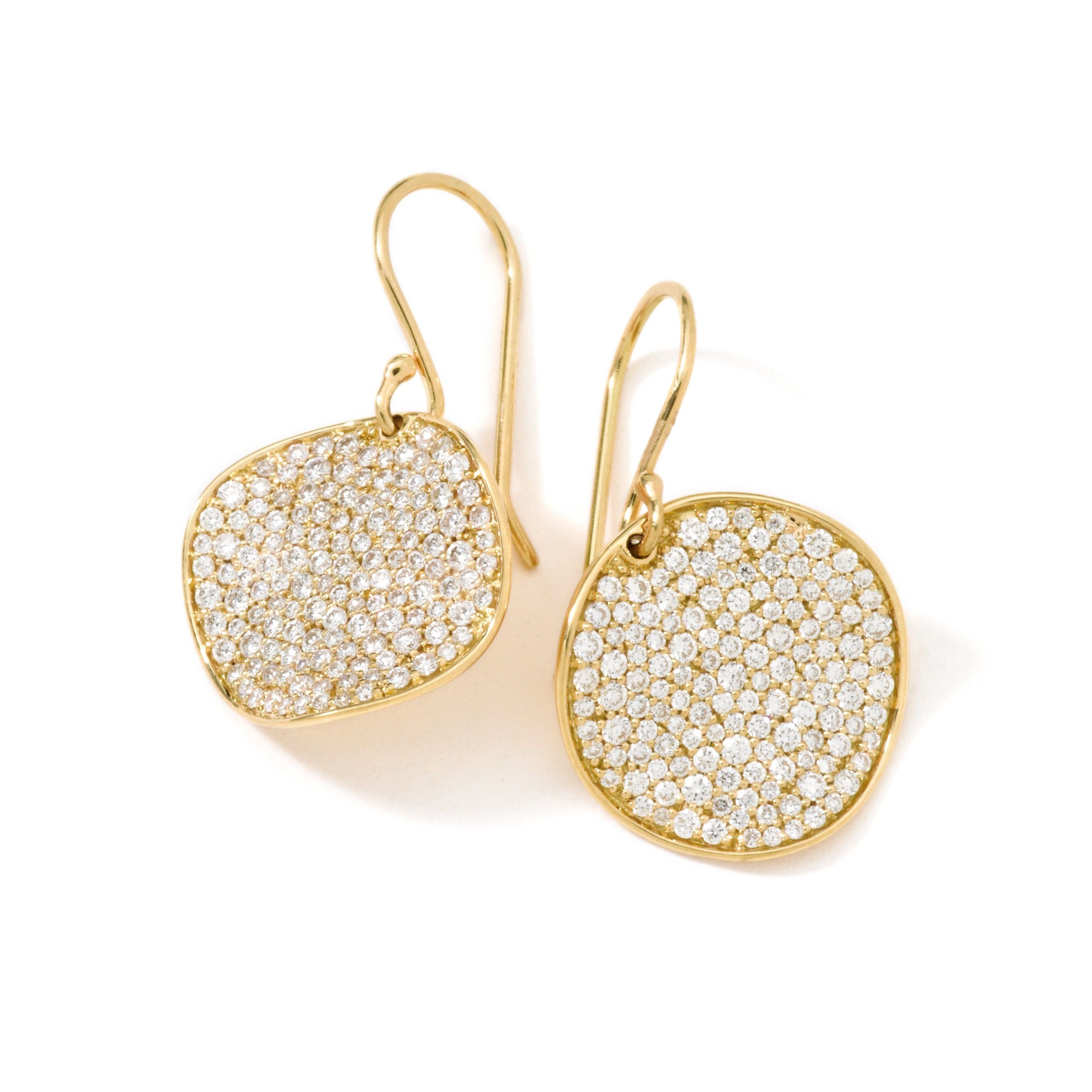 18K Gold Stardust Flower Earrings bob Pinterest