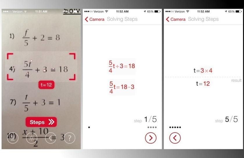 Download Photomath - Camera Calculator - iPhone App solve mathematical  equations