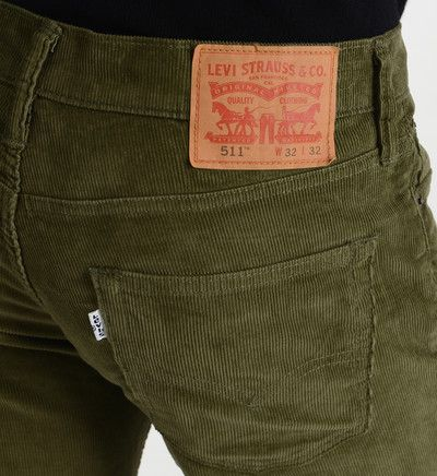 Pantalon 511 slim fit en velours c tel levi 39 s en vert - Pantalon velours cotele homme ...