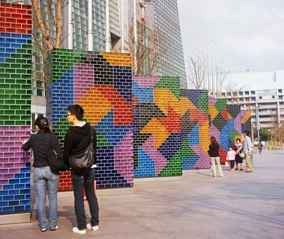 colorful and dynamic public art
