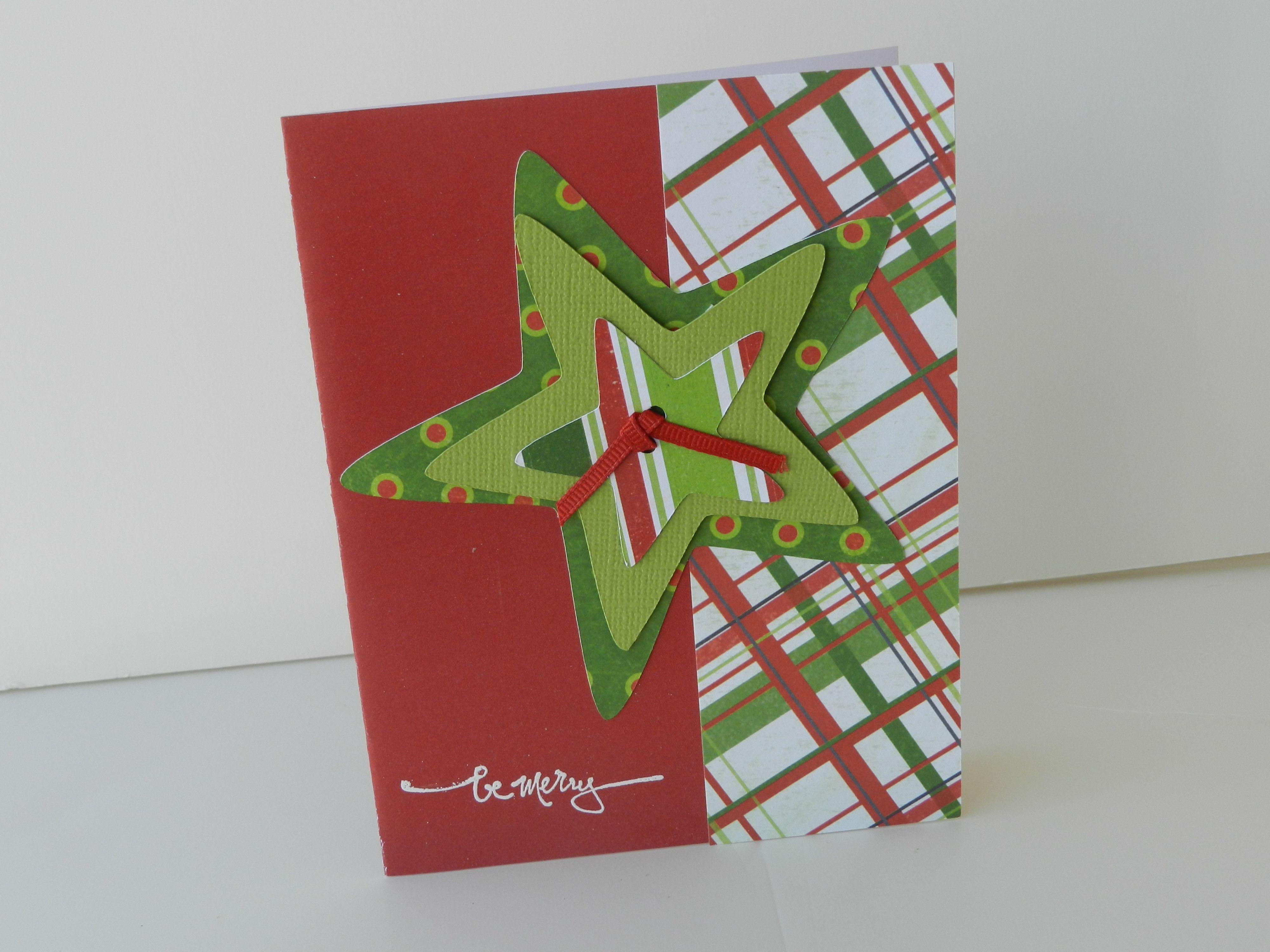 Christmas Star cricut cut card Christmas Cards