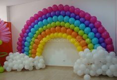 Arco Iris De Bexiga Pesquisa Google Baloes De Arco Iris Festa