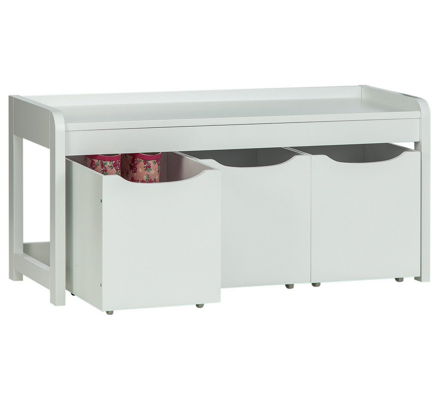 Buy HOME Harvard 3 Box Shoe Bench White at Argos