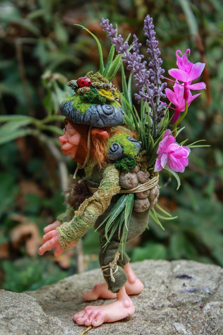 Fantasy Faerie Grass Pixie Green Goblin Ooak