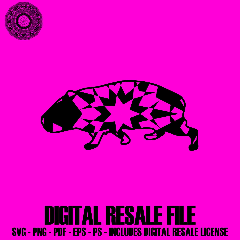 Guinea Pig Svg Files For Silhouette Mandala PDF Mandala Graphics