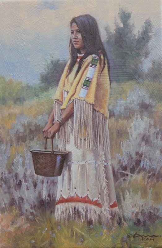Woman of the Plains Steven Lang 12x8 kp