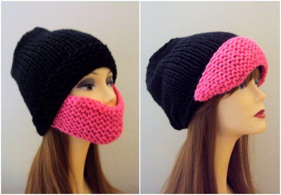 d65db5c4243 KNIT BEARD HAT Women Men Ski Mask Face Mask Winter Hat Beanie Snowboard Hat  Clothing Accessories Winter Hair Accessories Gift Ideas Under 50 by ...
