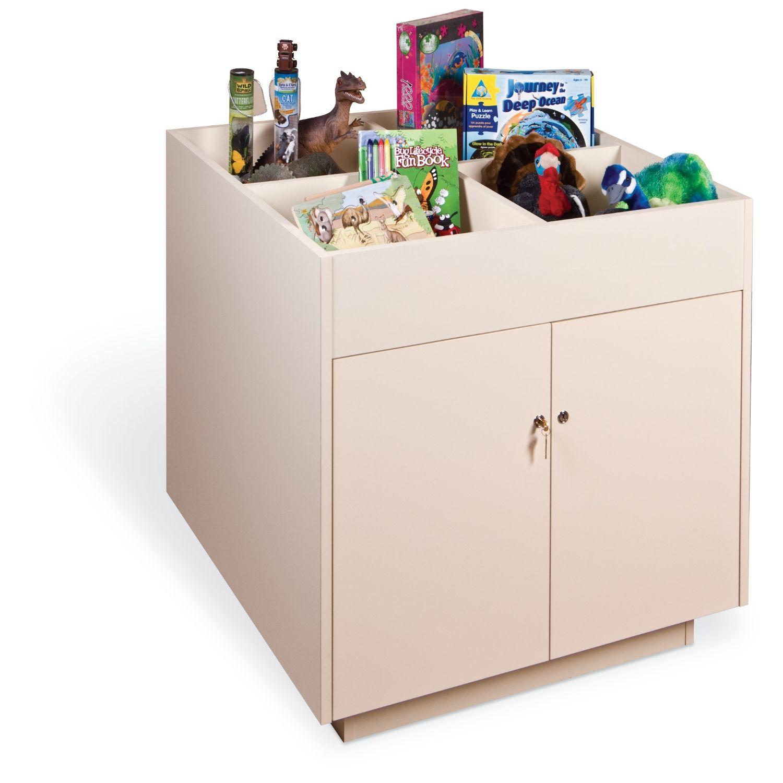 Mobile Display Cabinet Gaylordr Salina Mobile Bin Top Retail Display Cabinet Retail