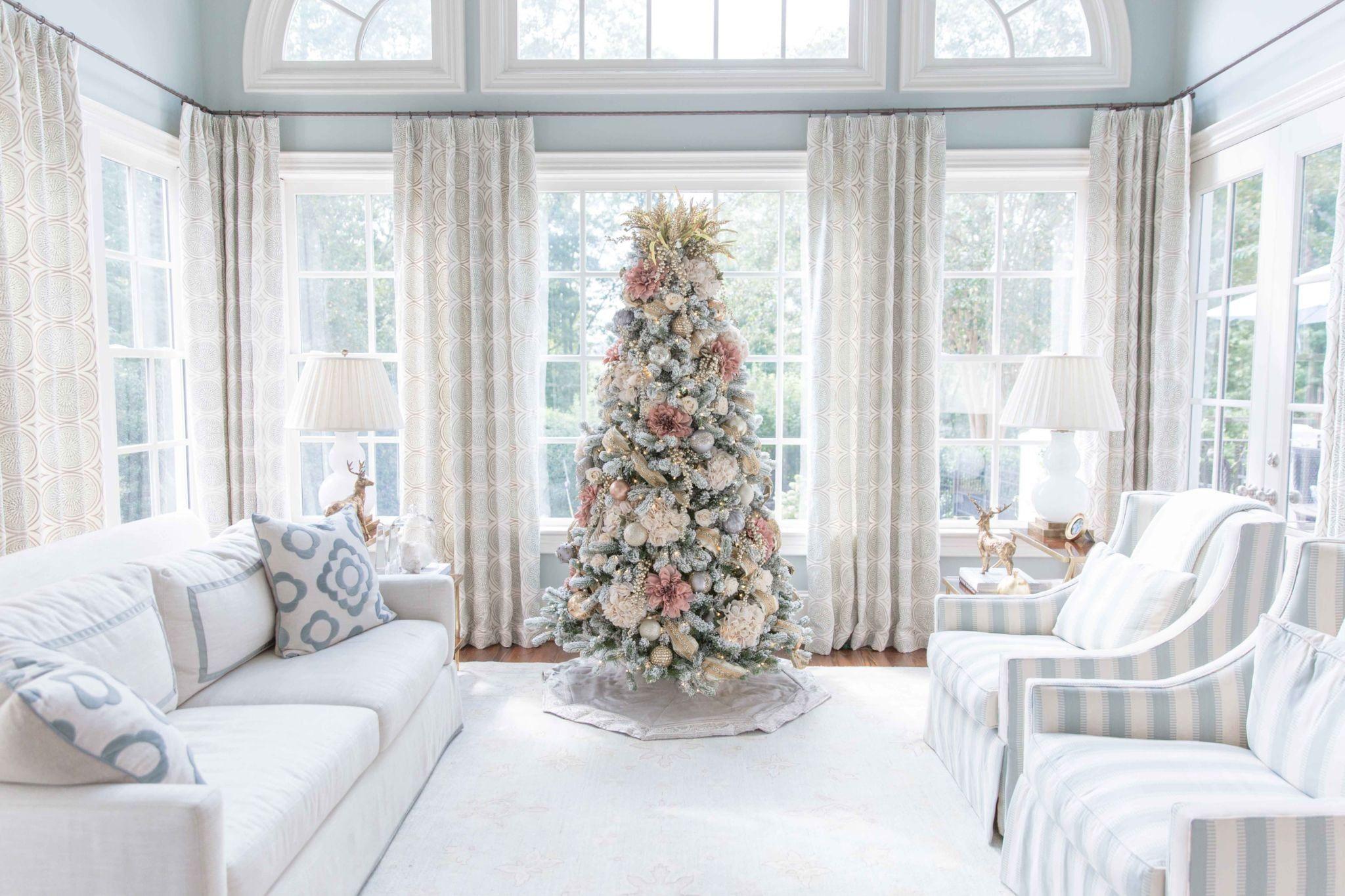 e Elegant Christmas Tree Decorated Two Ways