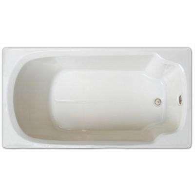 5 ft. Rectangular Drop-in Non-Whirlpool Bathtub in White